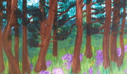 Forest in the Rockies Colorado Painting Nature Artist Yona Unbound