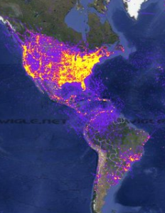 wigle wifi map wifi penetration of the americas - yonaunbound travel blog